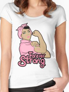 cancer awareness  forever strong Women's Fitted Scoop T-Shirt