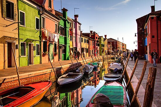 Late Afternoon in Burano, Venice by Robyn Carter