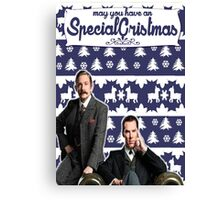 May you have an SPECIAL Xmas [Johnlock] Canvas Print