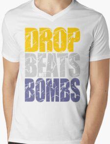 Drop Beats Not Bombs (Special Edition) Mens V-Neck T-Shirt