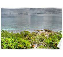 The rain is coming from the Eastern side of Nassau, The Bahamas Poster
