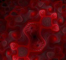 Red Whorls iPhone by Jess Meacham