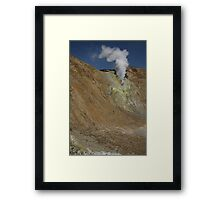 Crater wall vent. Papandayan volcano. Indonesia. Framed Print