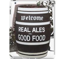 beer barrel real ales good food slogan iPad Case/Skin