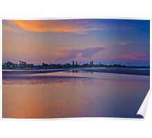Dusk over Shornecliffe Foreshore Brisbane Queensland Poster
