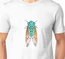 Teal Turquoise Cicada Zammara Unisex T-Shirt