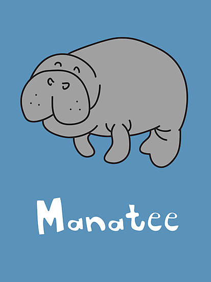 M for Manatee by gillianjaplit