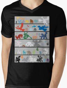 Pokemon Size Chart Color Mens V-Neck T-Shirt
