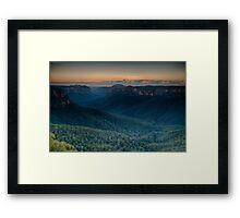 Sunrise over the Grose Valley Framed Print