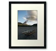 Yasur volcanic eruption. Sulfur Bay. Tanna. Framed Print