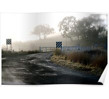 Frosty Bridge Poster