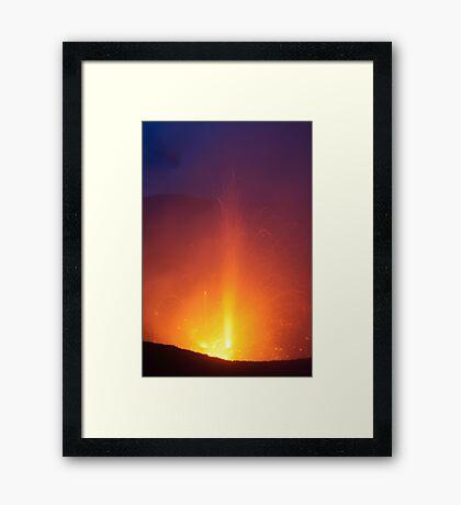 Yasur eruption. Island of Tanna. Vanuatu. Framed Print