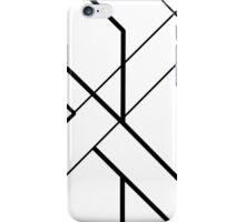 Architectural Voltage Black on White iPhone Case/Skin