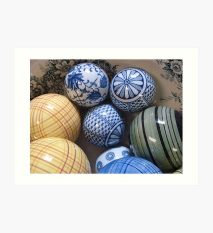 A BOWL OF BALLS Art Print