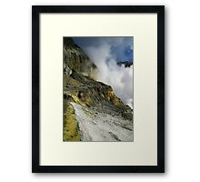 Crater wall of the White Island volcano. NZ Framed Print