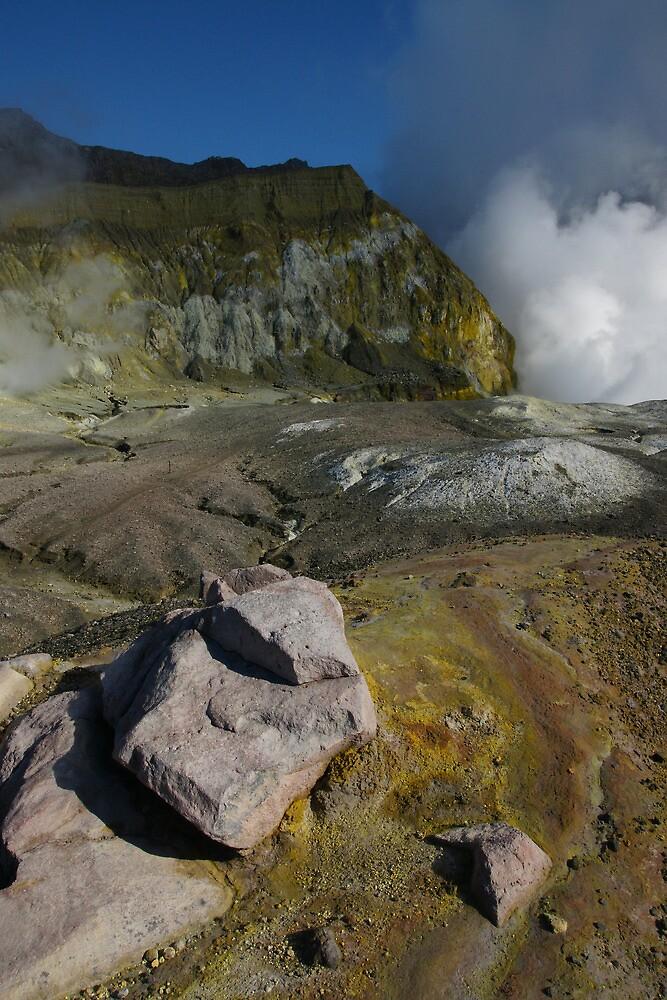 White Island volcano. NZ by Ian Hallmond