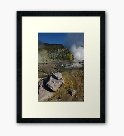 White Island volcano. NZ Framed Print