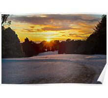 9th Hole in the morning snow Poster