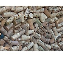 The Wine Lovers Cork Board Photographic Print