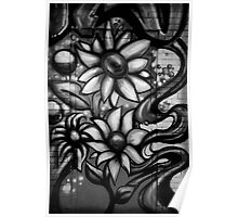 Graffitti in Black and White Poster