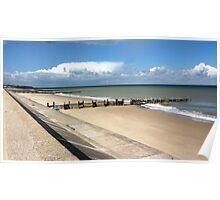Walcott Beach, Norfolk, England Poster