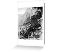 Train wreck Greeting Card
