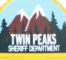twin peaks sheriff department case Sticker