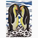 I CHOOSE YOU - PENGUIN LOVE by Lisa Frances Judd ~ Original Australian Art