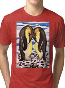 I CHOOSE YOU - PENGUIN LOVE Tri-blend T-Shirt