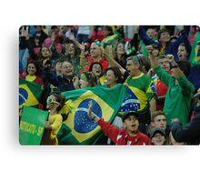 Brazil fans at Wembley  Canvas Print