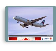 Air Canada Airbus 320 Canvas Print