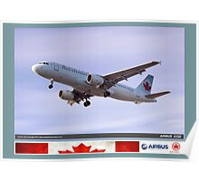 Air Canada Airbus 320 Poster