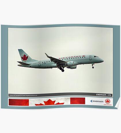 Air Canada Embraer 175 Poster