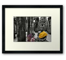 Purple and Gold, Cambodia Framed Print