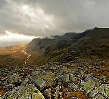 Scawfell and the Esk Valley by David Lewins