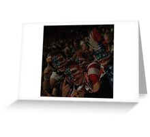 Team USA Fans Celebrate at Old Trafford Greeting Card