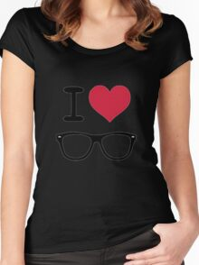 hipster love Women's Fitted Scoop T-Shirt