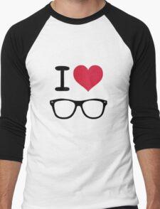 hipster love Men's Baseball ¾ T-Shirt