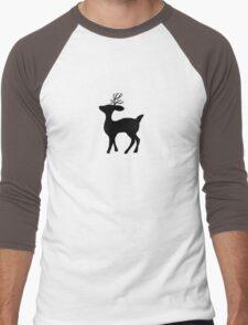 deer silhouette Men's Baseball ¾ T-Shirt