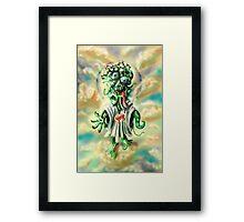 Alien Jesus Framed Print