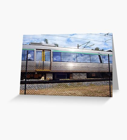 Train Photograph 02 10 12 Greeting Card