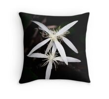 Clematis pubescens Throw Pillow