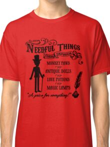 Mr. Needful Shirt (Black Print) Classic T-Shirt