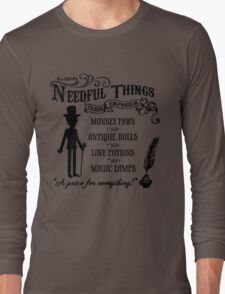 Mr. Needful Shirt (Black Print) Long Sleeve T-Shirt