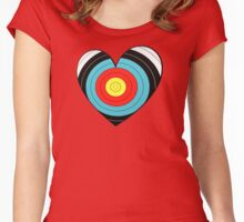 Archery heart (BIG) Women's Fitted Scoop T-Shirt