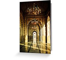Mughal Architecture Greeting Card