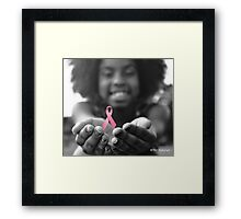 Breast Cancer Awareness Cure2 Framed Print