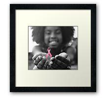 Breast Cancer Awareness Cure2 Framed Print