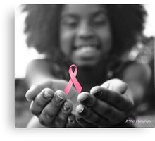 Breast Cancer Awareness Cure2 Canvas Print
