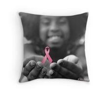 Breast Cancer Awareness Cure2 Throw Pillow